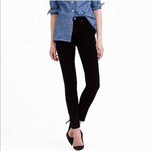 "J.CREW 9"" high-rise toothpick jean in black"